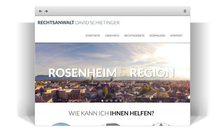 Ergebnis der Luftaufnahme aus Rosenhei: Homepage anwaltrosenheim.de - Stephan Franz Photography