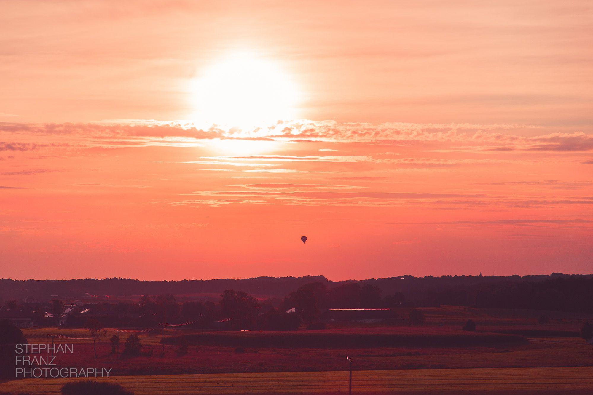 Sonnenuntergang-Ballon-Bayern-Stephan-Franz-Fotograf-Photography-2